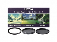 Светофильтр HOYA 52mm DIGITAL FILTER KIT: UV (C) HMC MULTI, PL-CIR, NDX8
